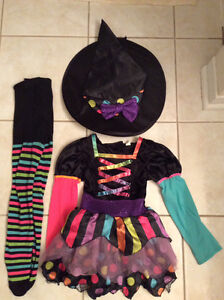 Mis-matched Witch Costume Sz 4-6