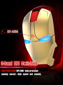 IRON MAN WIRELESS MOUSE BRAND NEW. GREAT PRICE. NO SHIPPING FEES