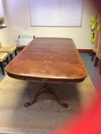 Mahogany Dining Table with Extension