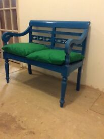 Attractive small painted bench seat