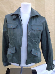 2 ladie's coats for 1 price - brown moto & green army Cambridge Kitchener Area image 5