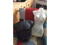 Half Body Mannequins on hangers
