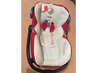 Maxi-Cosi CabrioFix Infant Carrier blue/red with rain cover