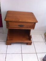 Roxton Solid Maple Night Table with Drawer