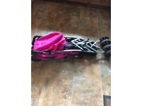 Mamas & Papas Bright Pink Pushchair with Rain Cover