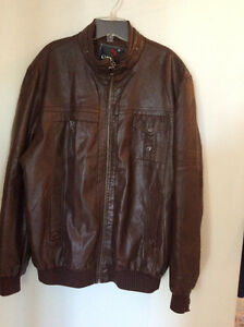 Brand new leather jacket for men, brown