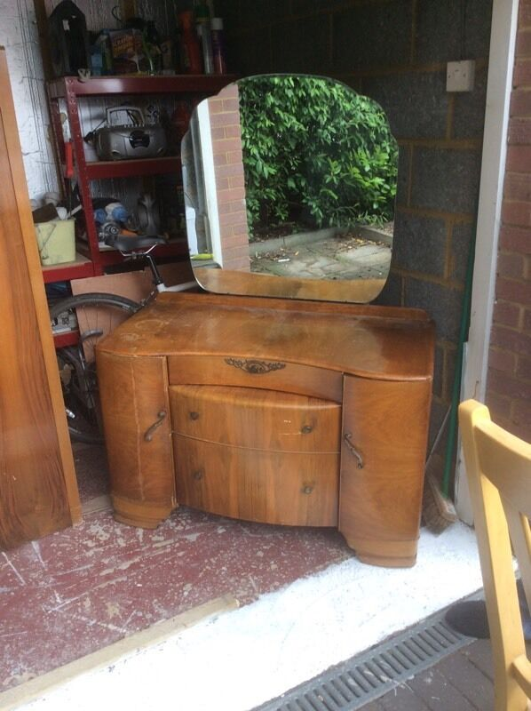 Vintage dressing tablein Rugby, WarwickshireGumtree - Great condition. Matching gentlemans wardrobe also for sale.Drawers intact & open & close smoothly