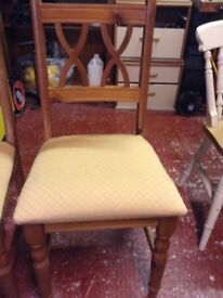 Two chairs solid wooden