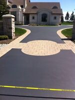 Asphalt & Concrete driveway brushed-on sealer