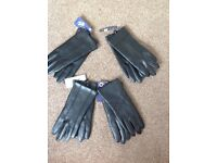 """4 pairs """"BRAND NEW"""" faux leather women's gloves"""
