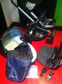 Quinny buzz 4 in rocking black pram pushchair travel system