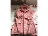 Girl's Hello Kitty Hooded Dressing Gown
