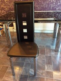 4 black dining chairs - NEW