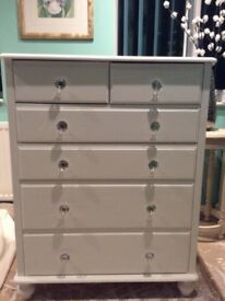 Fusion white chest paint chest of drawers