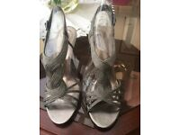 Brand New Grey heeled shoes