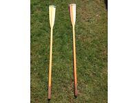 5 foot oars wooden.