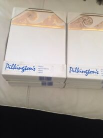 Pilkington Tiles, 4 boxes of 6, Real Gold in Trim, Cost £100, sell £10