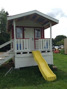 Solid wood playhouse