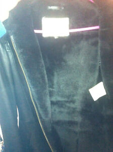 REAL FUR and LEATHER COAT, 100% REAL, MADE IN EUROPE
