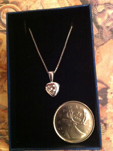 """STERLING SILVER  chain 17.5"""" With Pendant"""