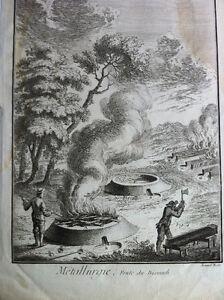 Original Benard Fecit Etching Gravure Métallurgie Fonte 1762 Peterborough Peterborough Area image 2