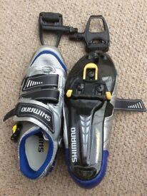 Shimano road cycling shoe