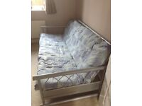 Metal sprung double futon/bed