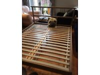 Ikea king size wooden frame bed