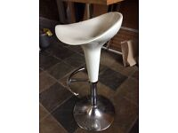 White Bar Stool in mint condition