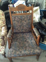3-different antique chairs for sale