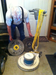 Electric Swing Arm Floor Scrubber