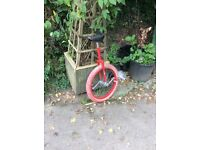 Red unicycle
