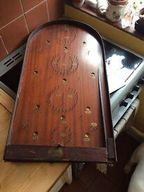Superb large antique bagatelle game (complete) £75