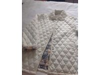 Ladies quilted jacket colour cream size large