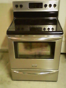 5 Burner Electric Stove & Glass TV Stand