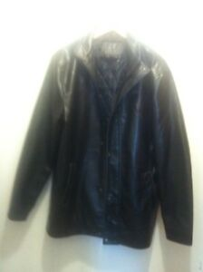 OPEN 2 OFFERS ..ARMANI BLACK LTHER COAT MINT  $125.00