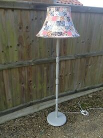 Standard lamp with patchwork shade