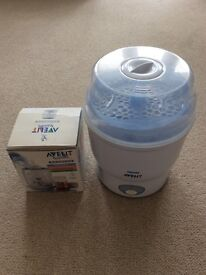 Philips Avent Electric steam steriliser and Electric Bottle Warmer