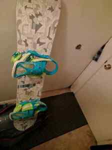 Forum Snowboard with bindings, boots and bag