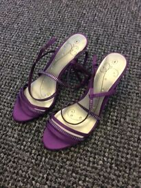 New - Purple healed evening shoes size 4