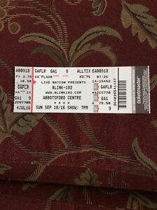 Blink 182 concert ticket