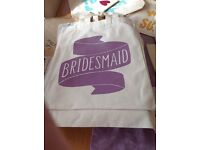 Bride, Bridesmaid, Maid of Honour wedding party bag