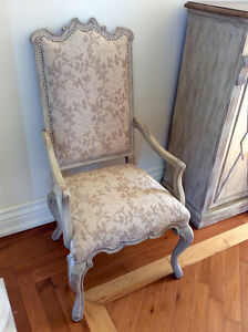 2 Canterbury dining arm chairs Dune by Hooker Furniture like NEW
