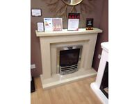 Crieff Complete Coral Cream Fireplaxe