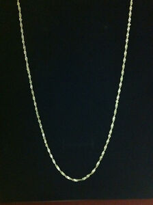 """STERLING SILVER. White Silver chain 20"""""""