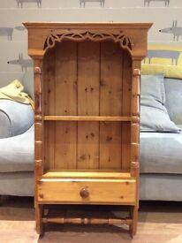 Pine shelf with drawer