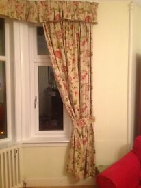 Laura Ashley floral curtains for bay window