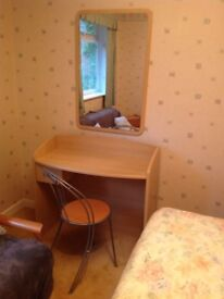 Desk and chair (exc. mirror)