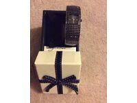 Next Ladies Black Diamonte Watch in original box.