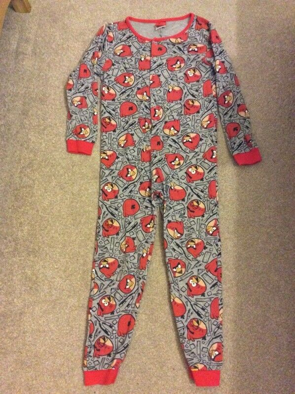 Angry birds onesie age 7-8 years